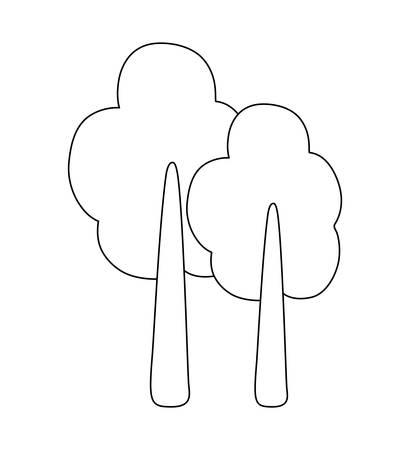 trees plant isolated icon vector illustration design Ilustração