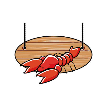 delicious lobster seafood icon vector illustration design