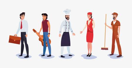 people profession labour day vector illustration design  イラスト・ベクター素材