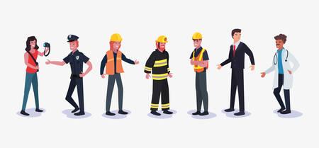 La gente profesión día del trabajo, diseño de ilustraciones vectoriales