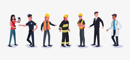 people profession labour day vector illustration design Illustration