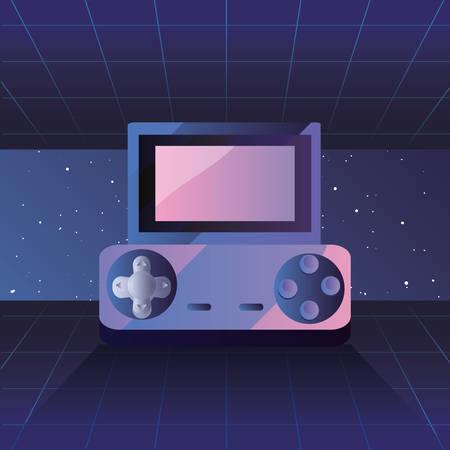 video game portable console retro 80s style vector illustration Иллюстрация