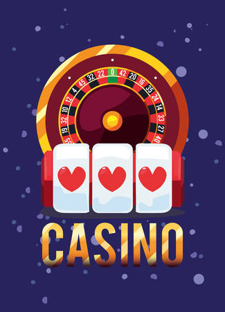roulette casino game bets vector illustration design