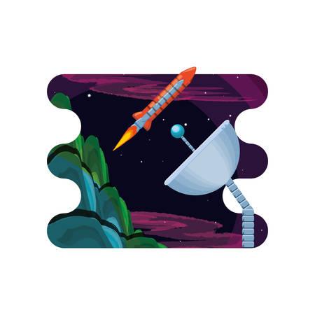 space rocket isolated icon vector illustration design Çizim