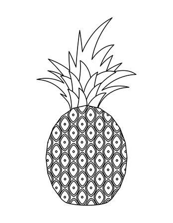 fresh pineapple fruit isolated icon vector illustration design Иллюстрация