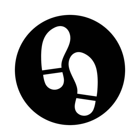 steps shoes print icon vector illustration design