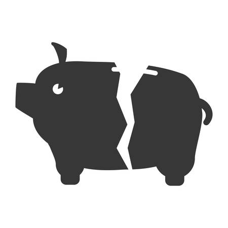 piggy savings isolated icons vector illustration design Ilustrace