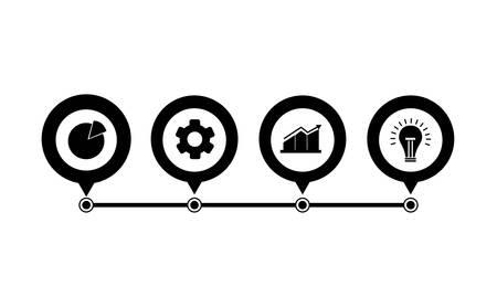 pins location set infographics icons vector illustration design