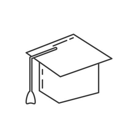 graduation hat study element icon vector illustration design