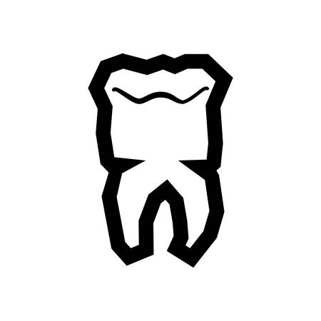 tooth human isolated icon vector illustration design Иллюстрация
