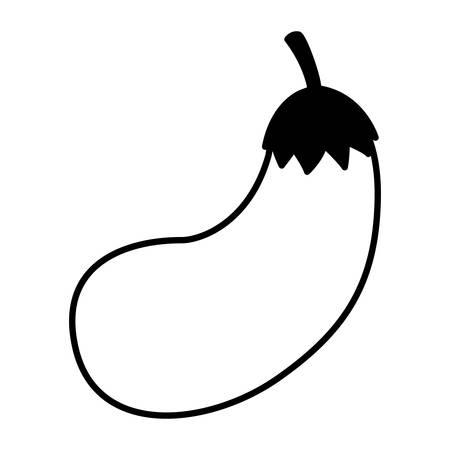 eggplant design, Vegetable organic food healthy fresh natural and market theme Vector illustration
