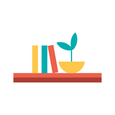 Shelf with books design, Furniture shop business store room and library theme Vector illustration Illustration