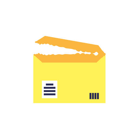 envelope mail open isolated icon vector illustration design