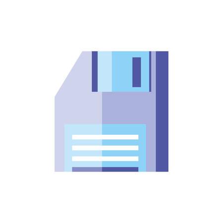 floppy disk digital isolated icon vector illustration design Illustration