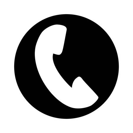 telephone service isolated icon vector illustration design Çizim