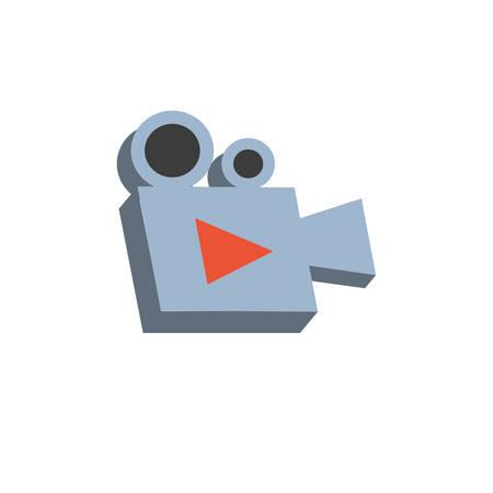 video camera film device icon vector illustration design