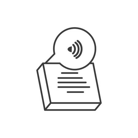 documents paper with wifi signal vector illustration design