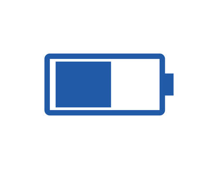 battery recharge vector silhouette illustration desing