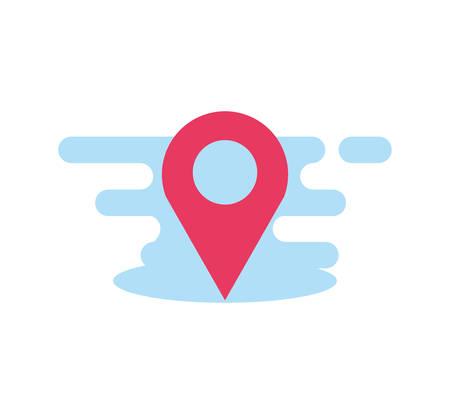 pin pointer location isolated icon vector illustration design  イラスト・ベクター素材