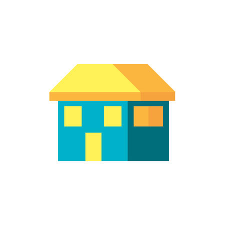 house facade building isolated icon vector illustration design Ilustração