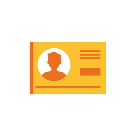 document id paper isolated icon vector illustration design Stock Illustratie