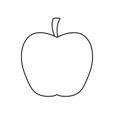fresh apple fruit isolated icon vector illustration design