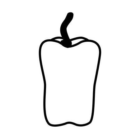 pepper design, Vegetable organic food healthy fresh natural and market theme Vector illustration