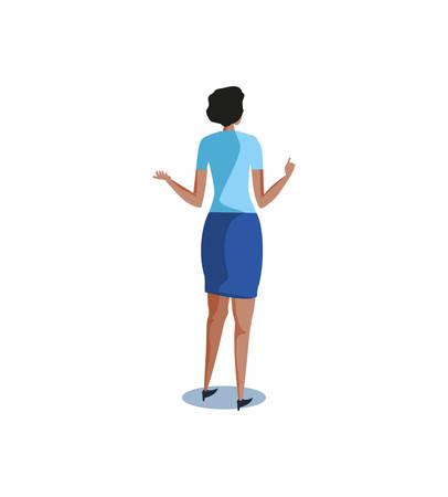 business woman elegant avatar character vector illustration design