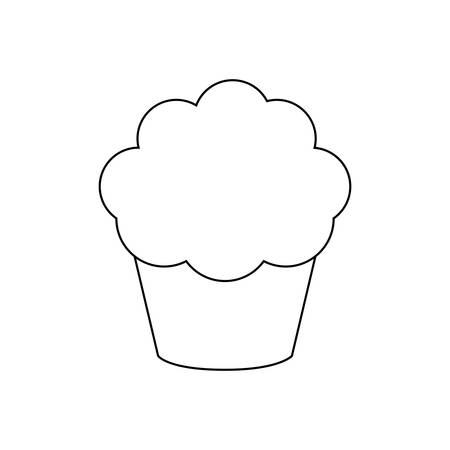 delicious and sweet cupcake isolated icon vector illustration design