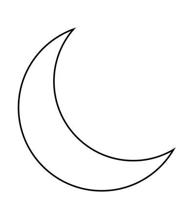 ramadan kareem lamp with moon hanging vector illustration design