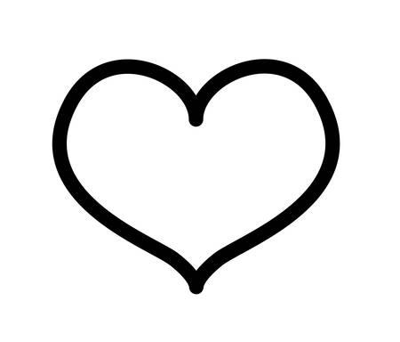 cute heart love drawing vector illustration design Иллюстрация