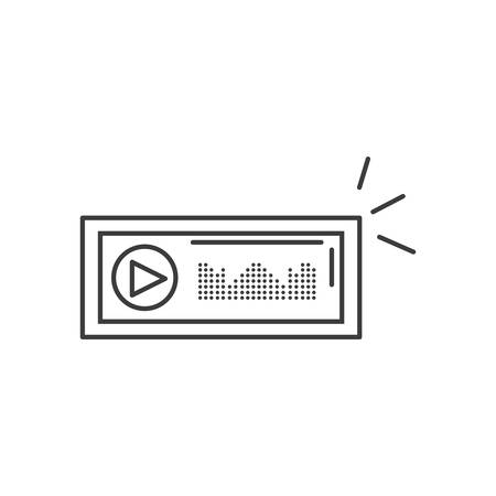 audio player display with sound graohic vector illustration design 向量圖像