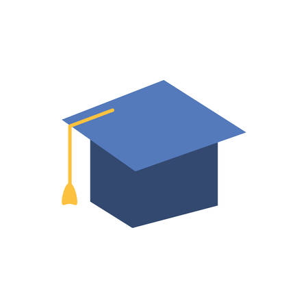 graduation hat study element icon vector illustration design 写真素材 - 131390856