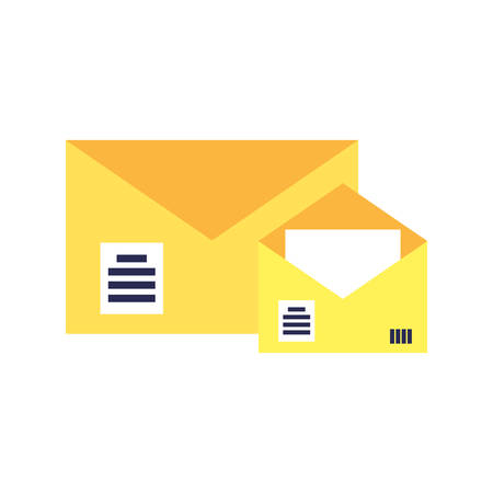 envelopes mail communication isolated icon vector illustration design