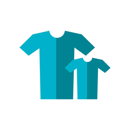 set of shirt male isolated icon vector illustration design