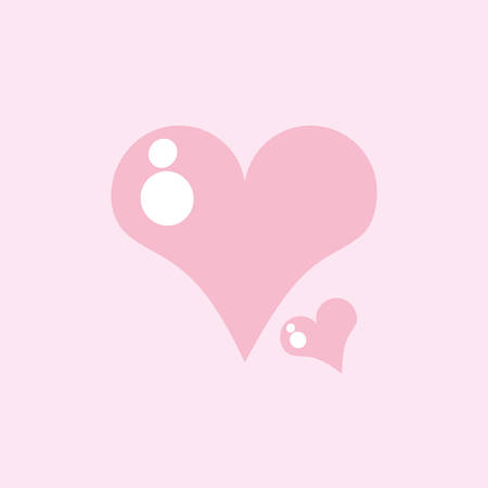 cute hearts love isolated icon vector illustration design Иллюстрация
