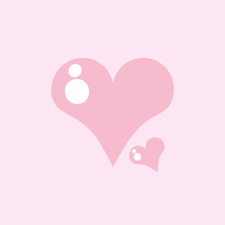 cute hearts love isolated icon vector illustration design Фото со стока - 131390936