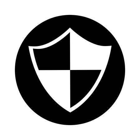 safe secure shield icon vector illustration design