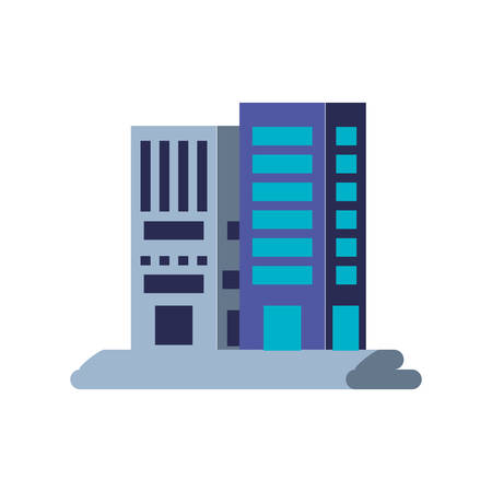 facades buildings urban isolated icon vector illustration design Ilustração
