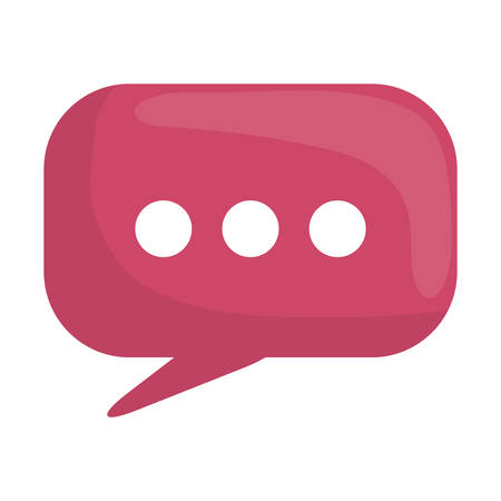 speech bubble message icon vector illustration design  イラスト・ベクター素材