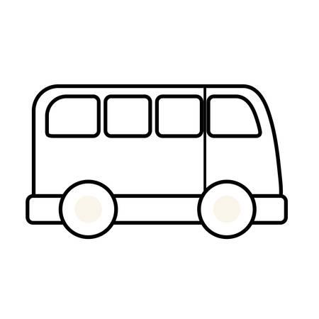 van vehicle transportation isolated icon vector illustration design Foto de archivo - 131391472