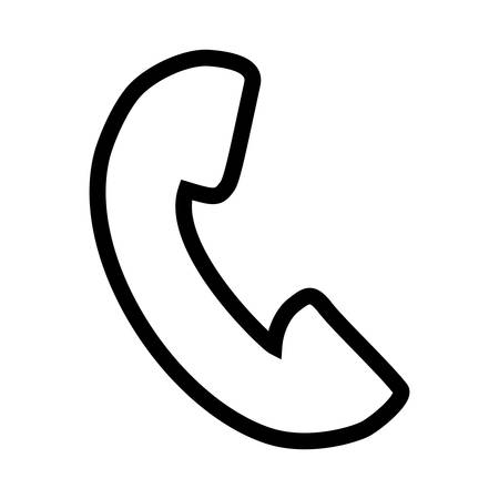telephone service isolated icon vector illustration design Stock Illustratie