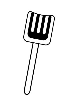 plastic shovel toy isolated icon vector illustration design
