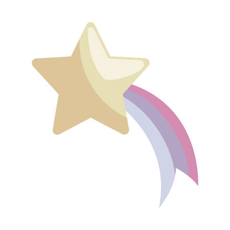 cute shooting star isolated icon vector illustration design