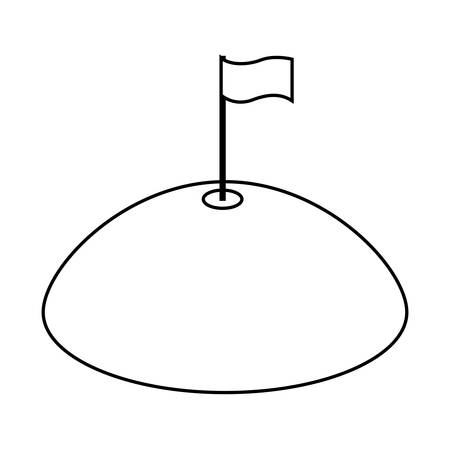 success flag isolated icon vector illustration design Ilustração