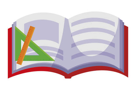 text book with rules vector illustration design Çizim