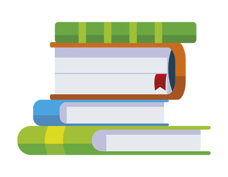 pile text books icons vector illustration design Çizim