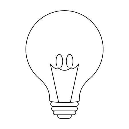 light bulb isolated icon vector illustration design Illustration