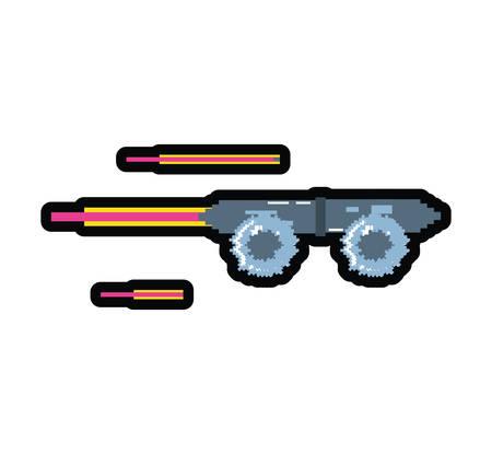 video game skateboard pixelated icon vector illustration design
