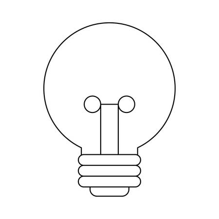 light bulb isolated icon vector illustration design Ilustração